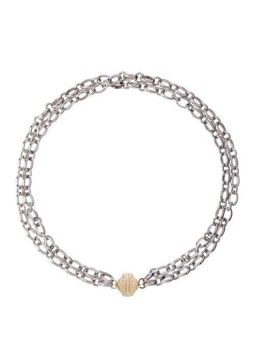 Clara Williams Clara Williams Madison Rhodium Plated Necklace