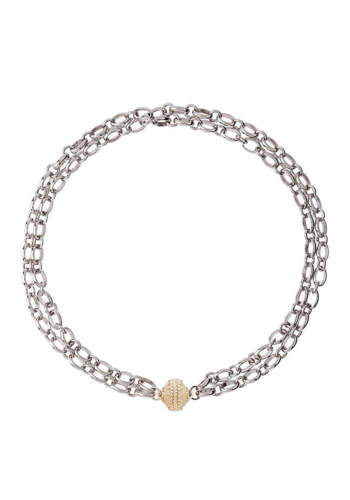 Clara Williams Madison Rhodium Plated Necklace