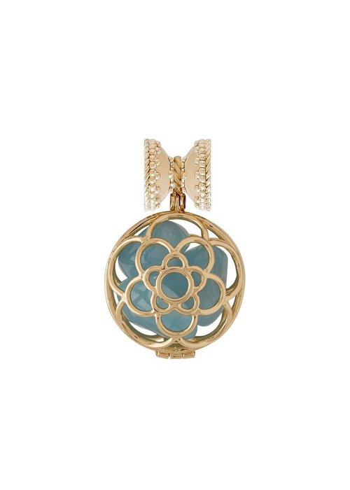 Clara Williams Clara Williams De la Rosa 14k Plated and Aquamarine Centerpiece