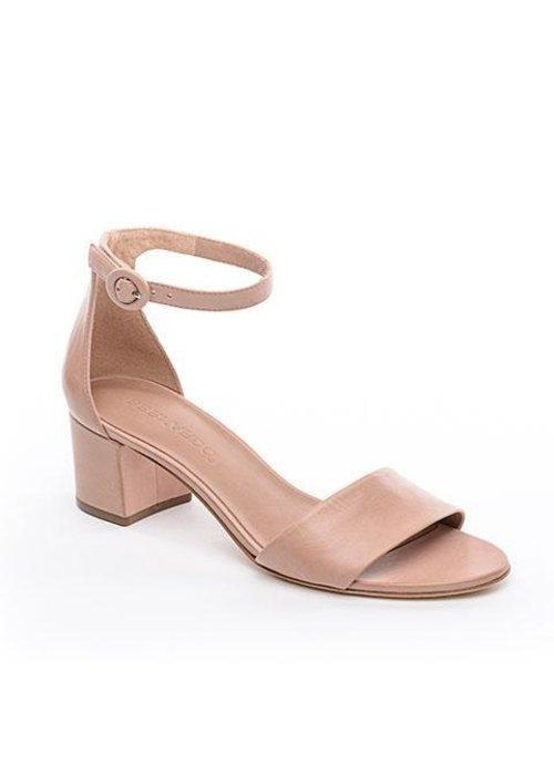 """Bernardo Bernado Belinda 2"""" Block Heel Leather Sandal."""