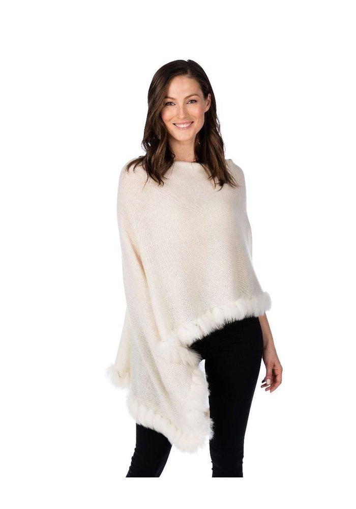 Claudia Nicole 100% Cashmere LUXE Flutter Fox Topper