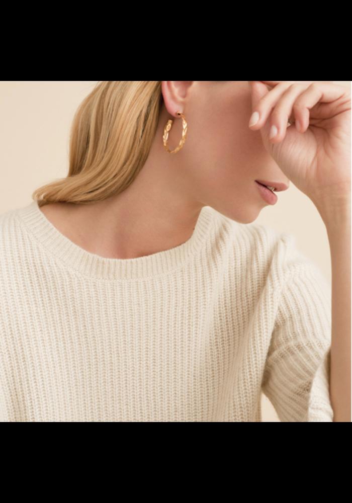 Gas Bijoux Earrings, Creole Tresse Small