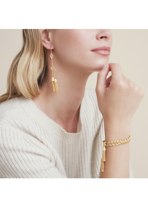 Gas Bijoux Gas Bijoux Earrings, Tresse Small Hoops