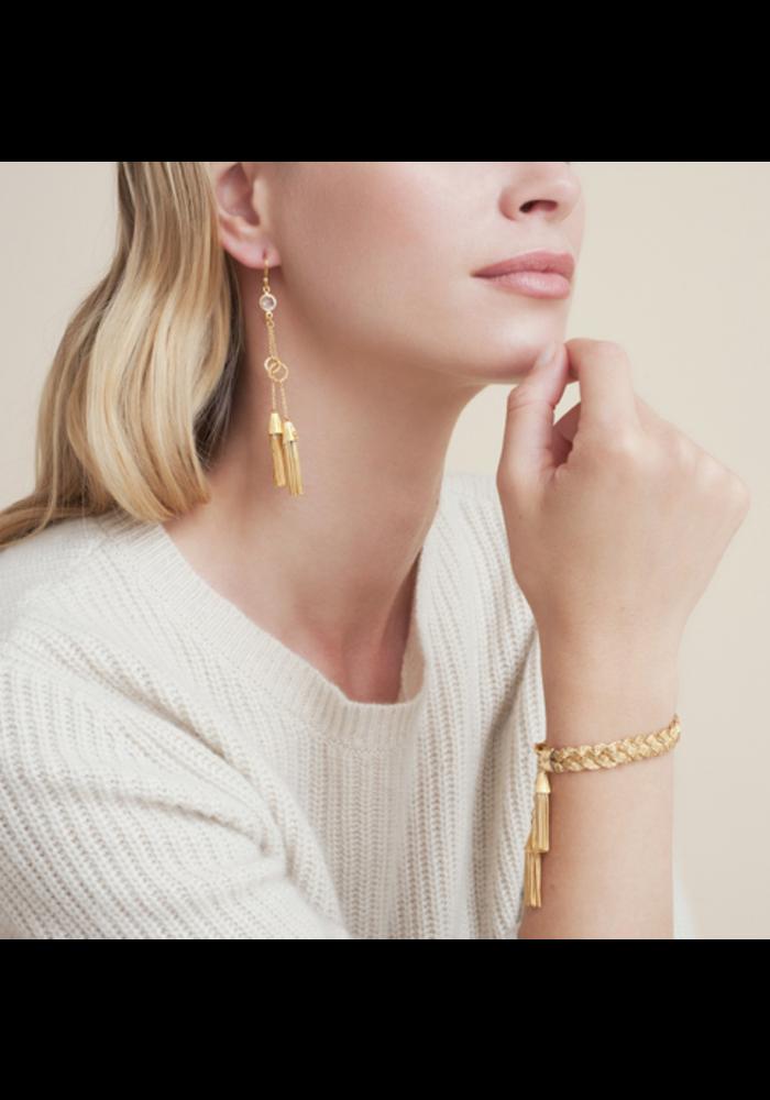 Gas Bijoux Earrings, Tresse Small Hoops