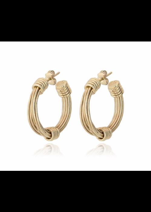 Gas Bijoux Gas Bijoux Earrings, Ariane 24k Gold Plate Medium Size
