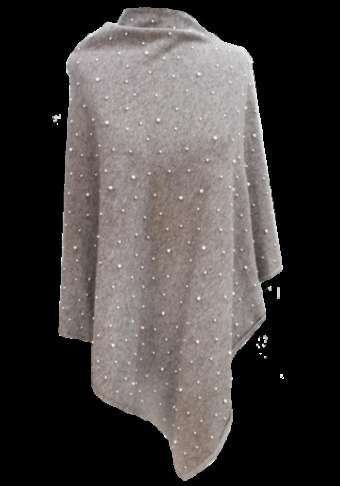 La Fiorentina Embellished Pearl Poncho