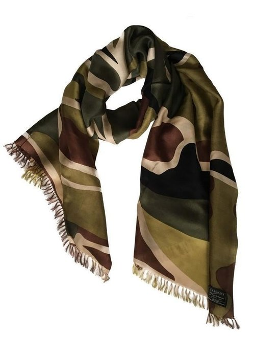 Cashmere Wrappings CW-Cashmere Wrappings Tidepools 100% Silk Scarf