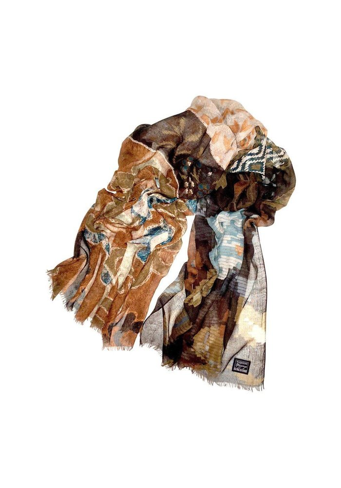 """Cashmere Wrappings Crafted Assemblage 27"""" by 80"""""""