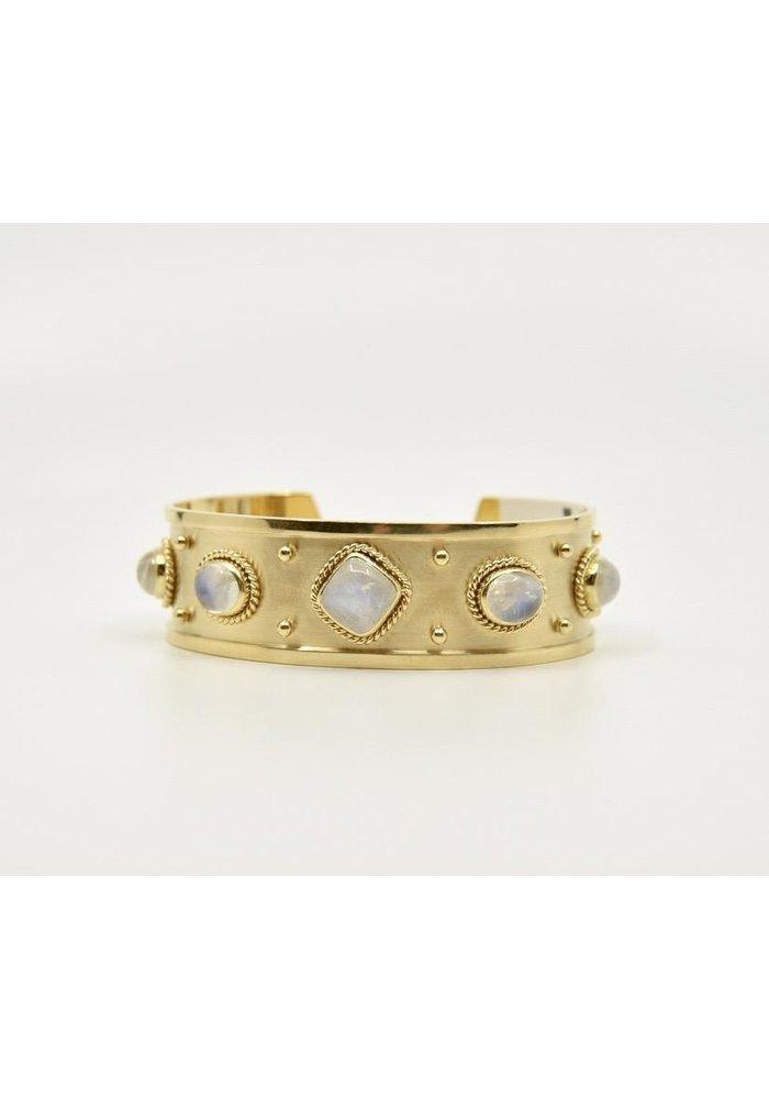 Mazza 18K Gold and Moonstone Cuff
