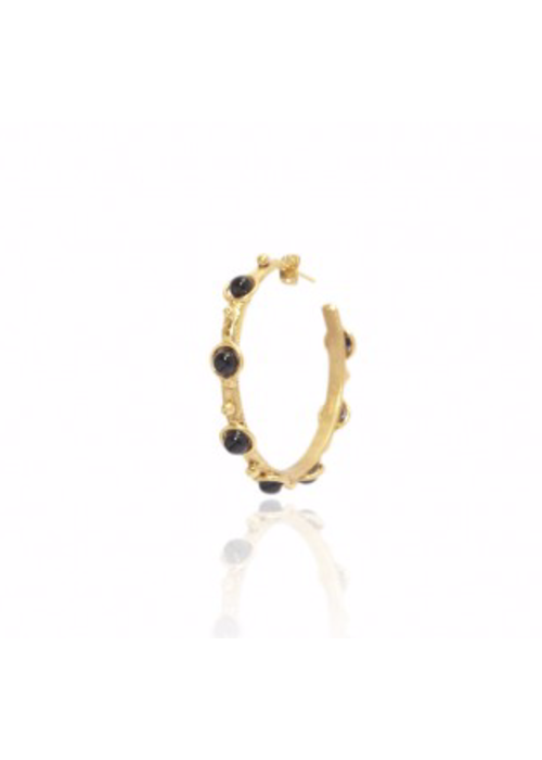 "Sylvia Toledano Earrings ""Petite Candy"" with Onyx stones"