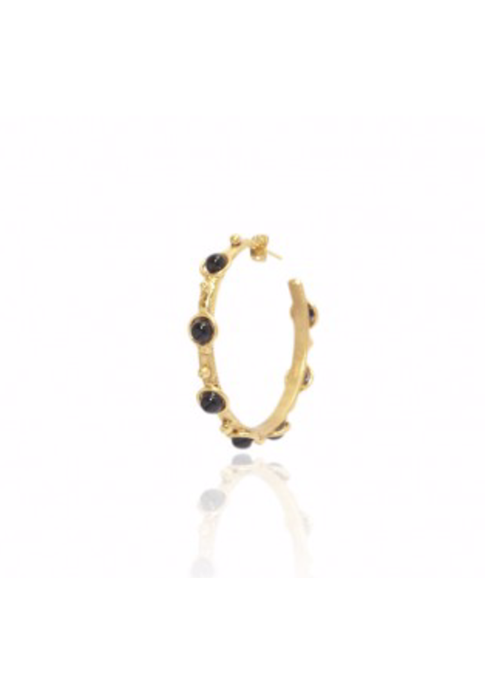 """Earrings """"Petite Candy"""" with Onyx stones"""