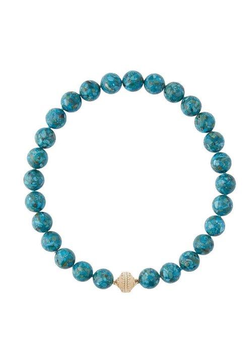 Clara Williams Clara Williams LTD Victoire Mosaic Turquoise Necklace 14MM