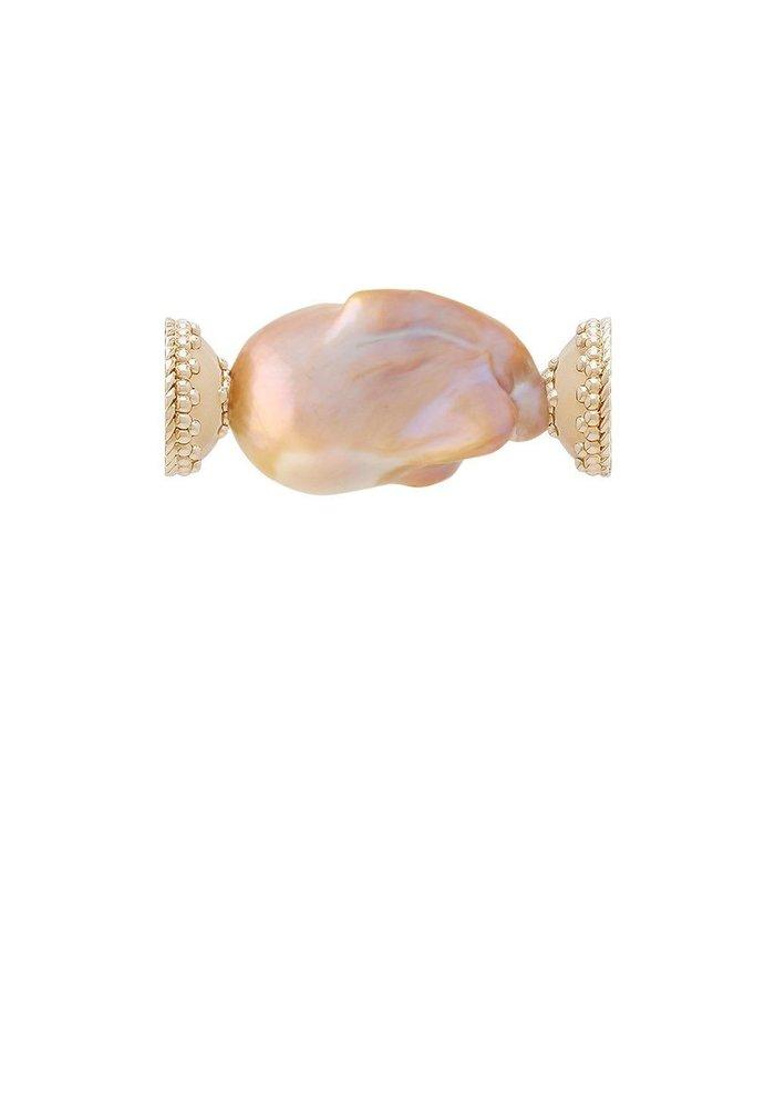 Clara Williams LTD Freshwater Dusty Rose Baroque Pearl Centerpiece