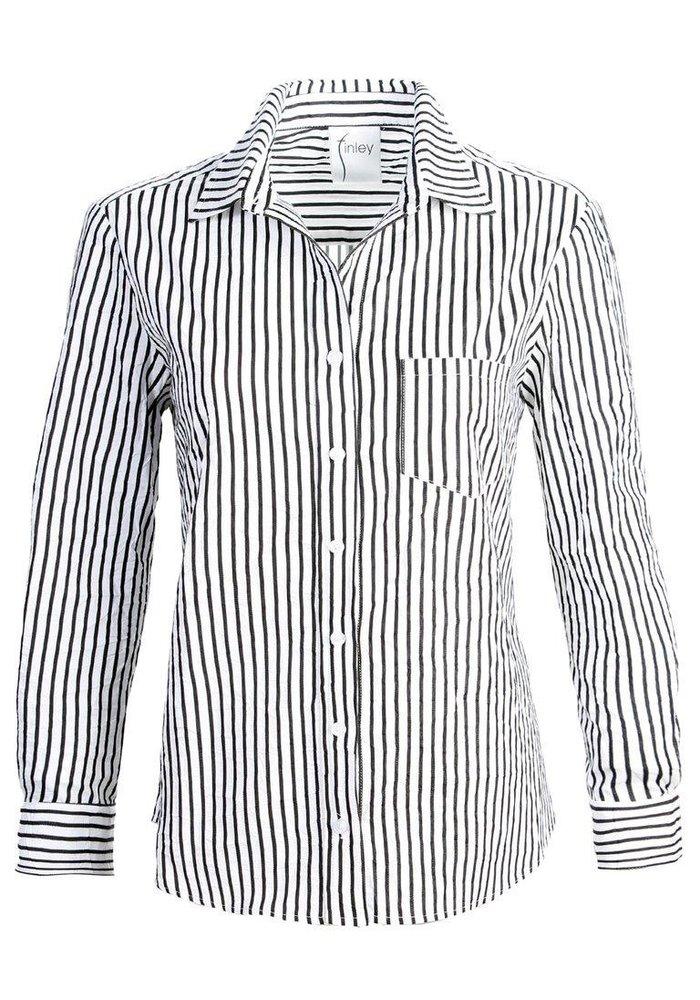 Finley Alex Shirt in Textured Stripe Fabric