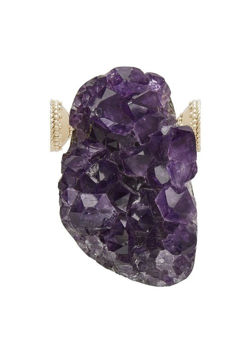 Clara Williams Clara Williams Amethyst Druzy Large Centerpiece