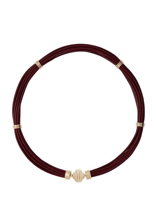 Clara Williams Clara Williams LTD Mulberry Aspen Leather Necklace