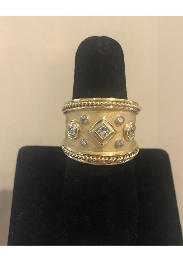 Mazza Ring 14K Gold and .51 ct Diamond