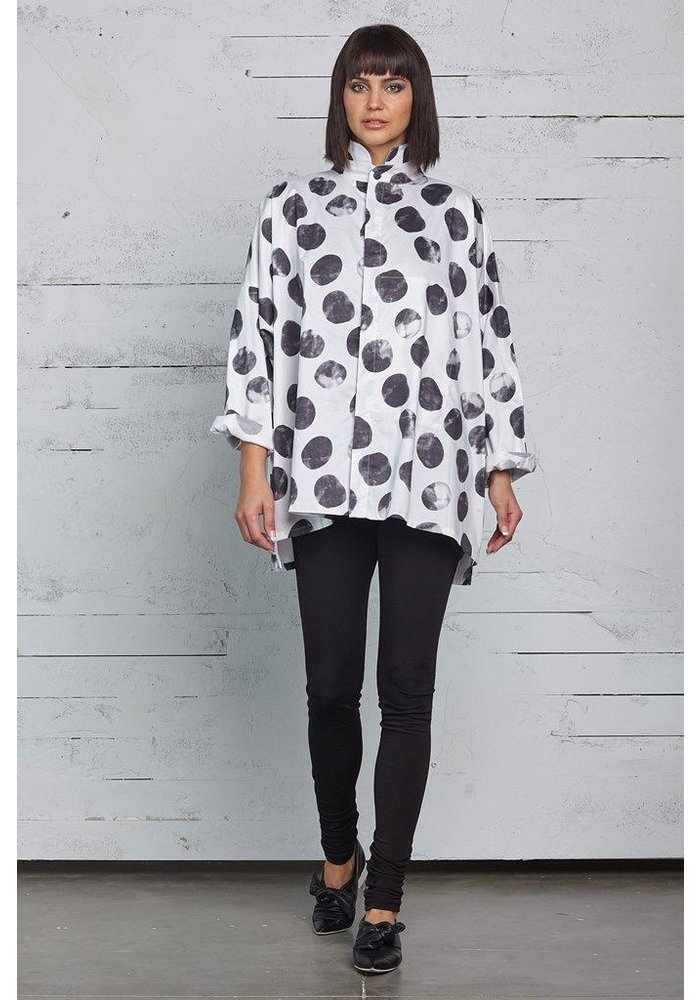 Planet Signature Shirt in Black and White dots