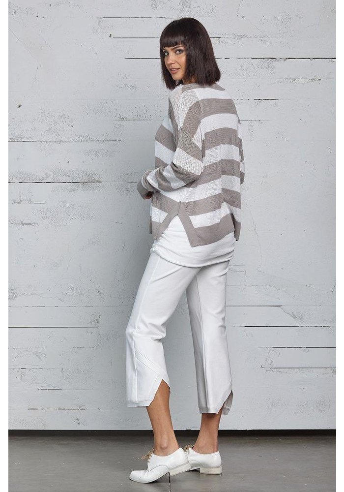 Planet Striped Seed Stitch Top