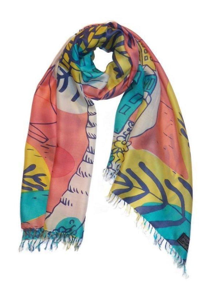 "Cashmere Wrappings ""Maisons de la Mer"" 100% Silk Scarf"