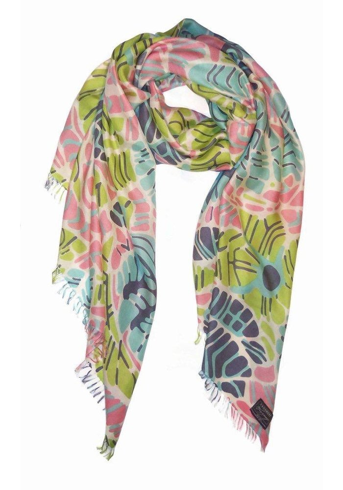 Cashmere Wrappings Tropical Mosaic