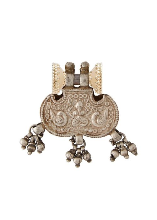 CWC Jewelry Clara Williams Colaba Indian Silver Bead Centerpiece