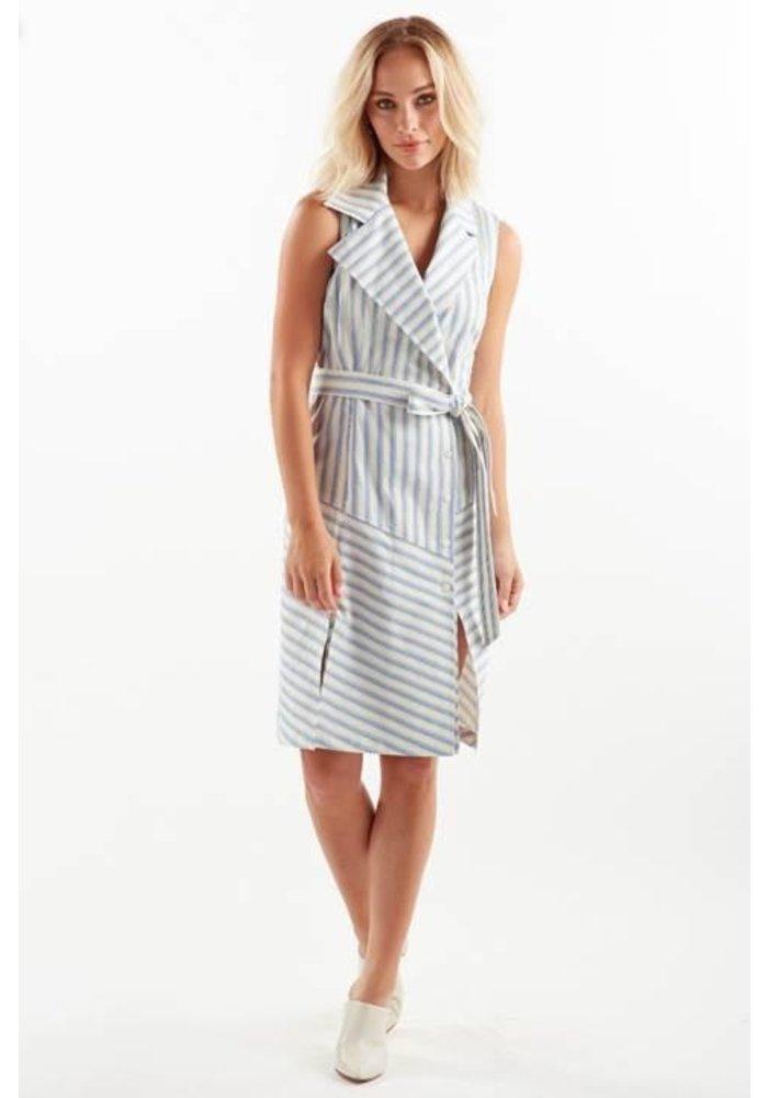 Finley Marni Dress in Ticking Stripe