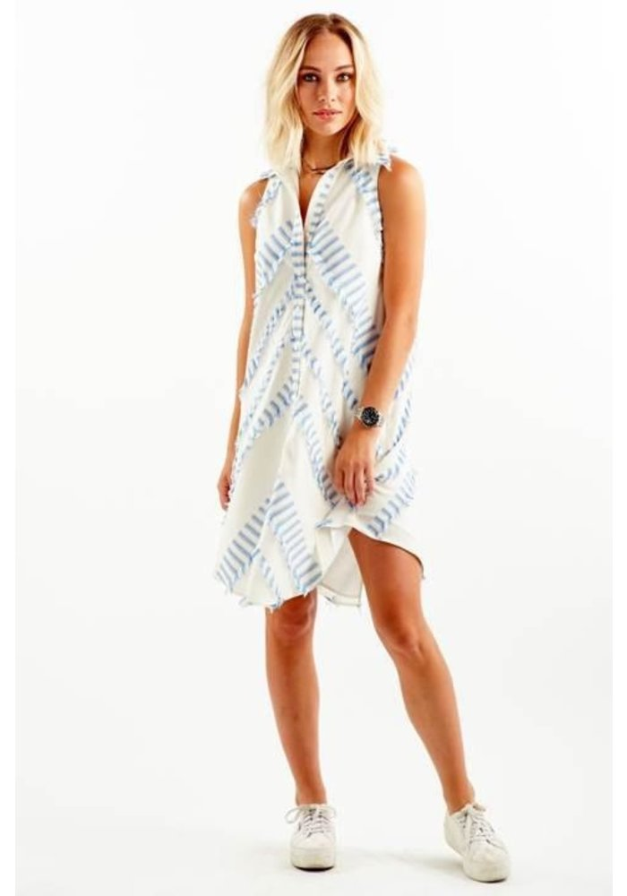 Finley Eyelash Stripe Sleeveless finlSwing Dress