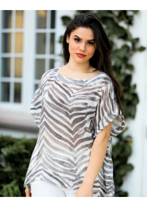 IL Loose Fit Zebra Shirt, One Size