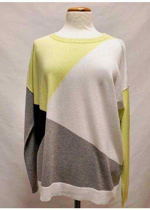 PLANET by Lauren G Planet Mod Argyle Sweater