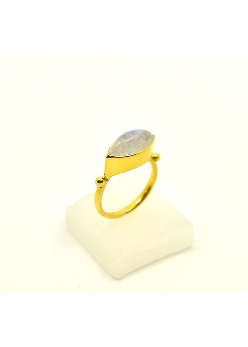 Mazza Mazza 14K Ring with Moonstone
