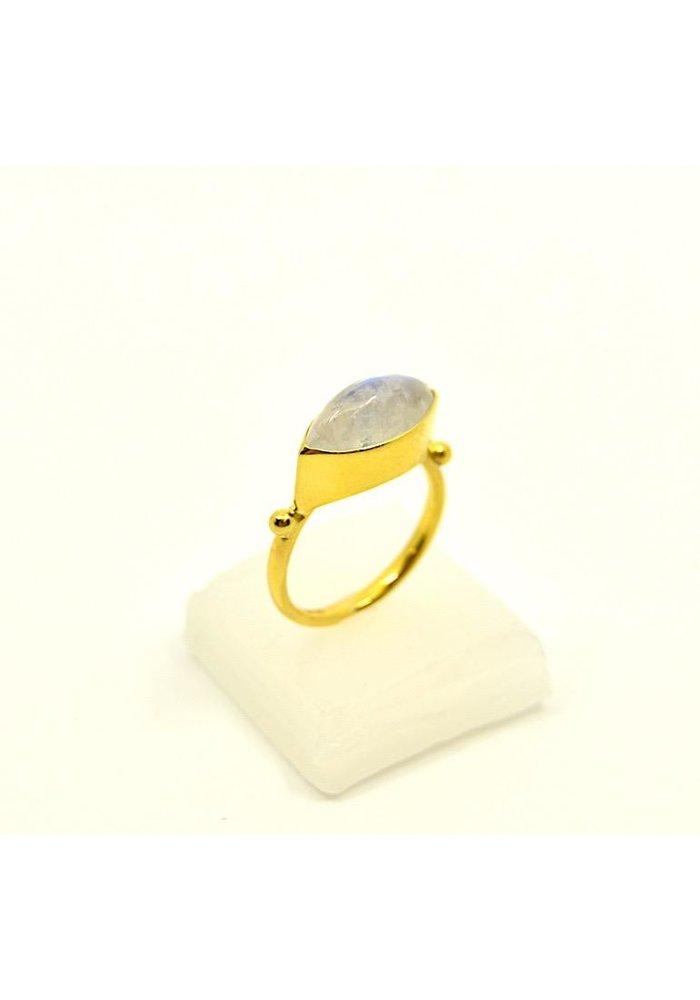 Mazza 14K Ring with Moonstone