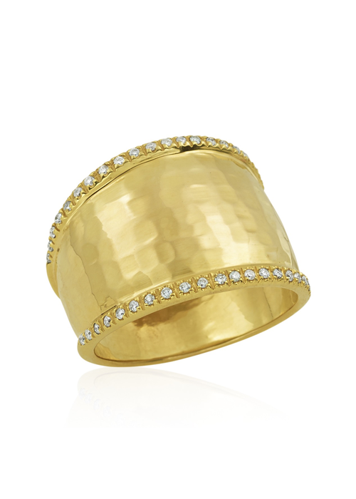 Mazza Mazza 14k Gold Ring .25ct Diamonds Size 7 3/4