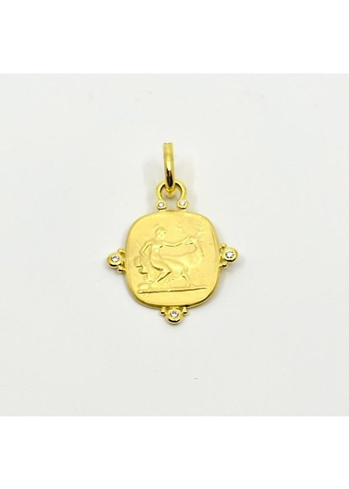Mazza Mazza 14k Gold Diana Pendant with .20 ct diamonds
