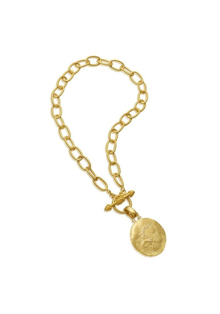 Mazza 14K Link Necklace with Toggle