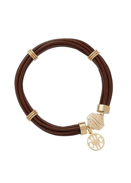 Clara Williams Clara Williams Aspen Leather Bracelet Chocolate Brown