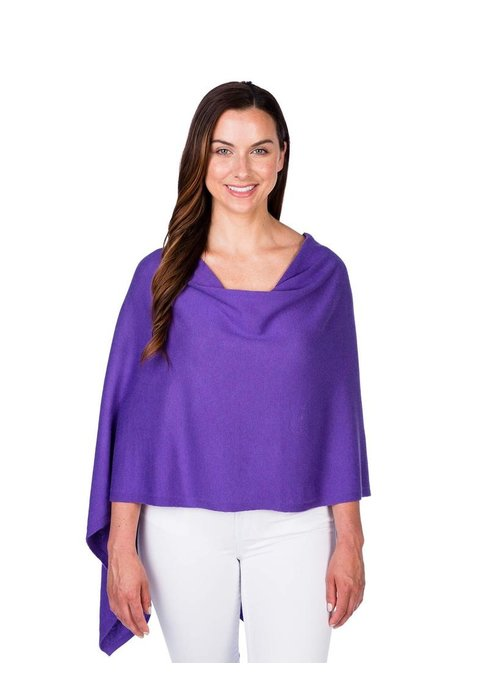 Caroline Grace Alashan Trade Wind Cotton/Cashmere Dress Topper Poncho