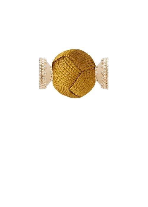 Clara Williams Woven Knot Mustard Gold 18mm Centerpiece