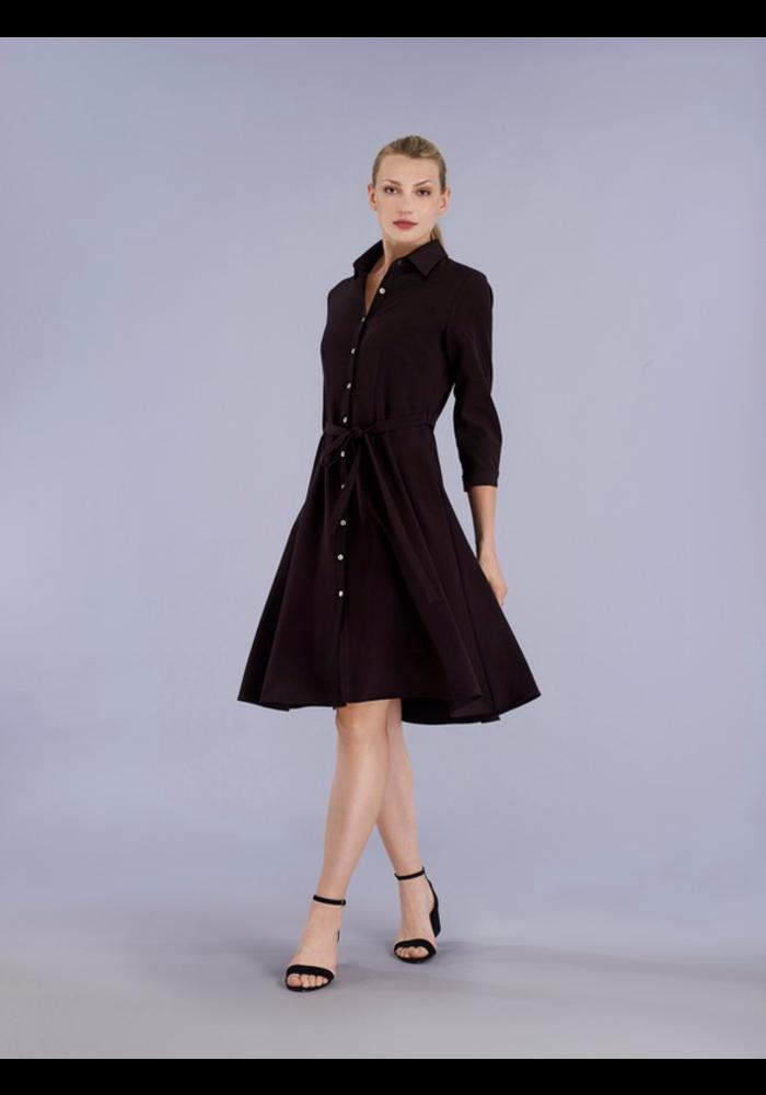 Dress in stretch fabric