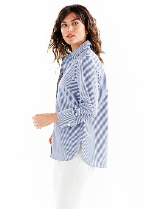 Finley Shirts Alicia 3/4 Sleeve Shirt Ralph Stripe