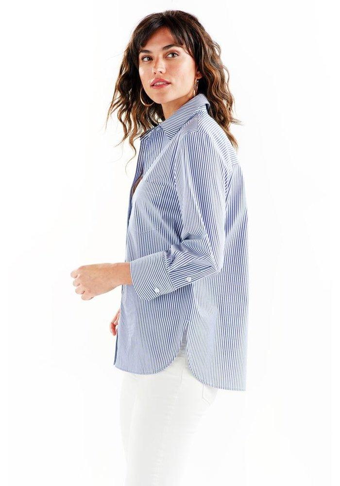 Alicia 3/4 Sleeve Shirt Ralph Stripe