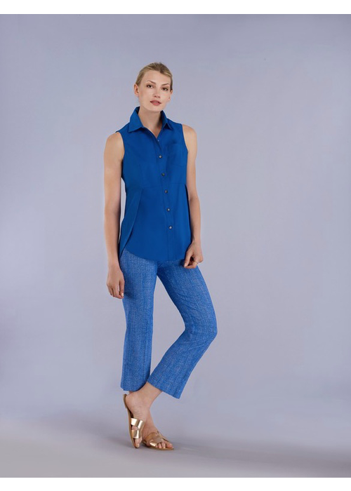 Estelle & Finn Estelle and Finn Sleeveless Curved Hem Shirt