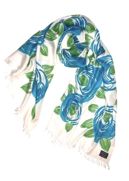 Accessories Cashmere Wrappings Blooms Cool Blues