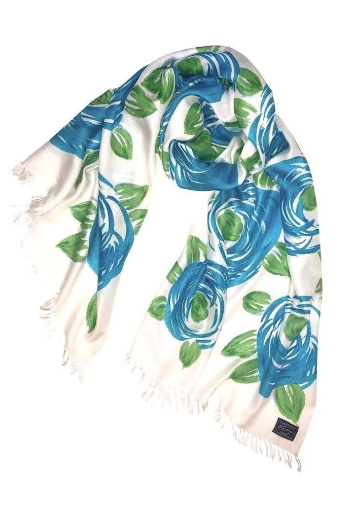 Cashmere Wrappings Blooms Cool Blues