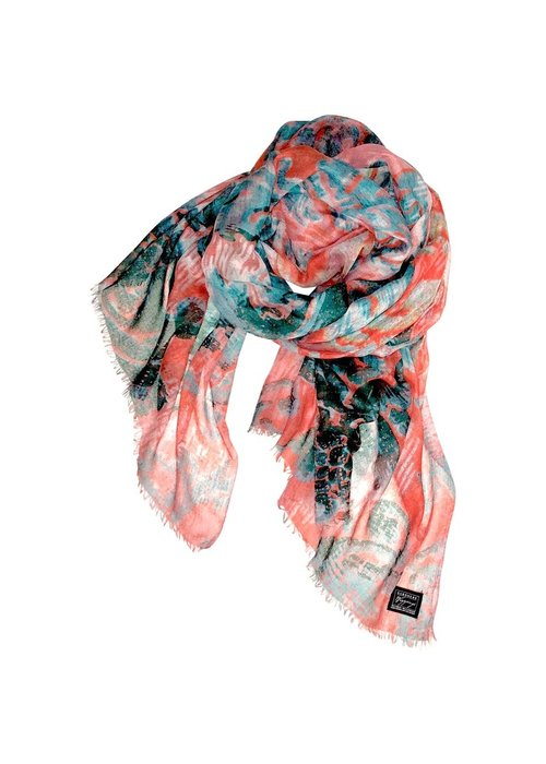 """SCARVES Cashmere Wrappings """"Faded Sea"""""""