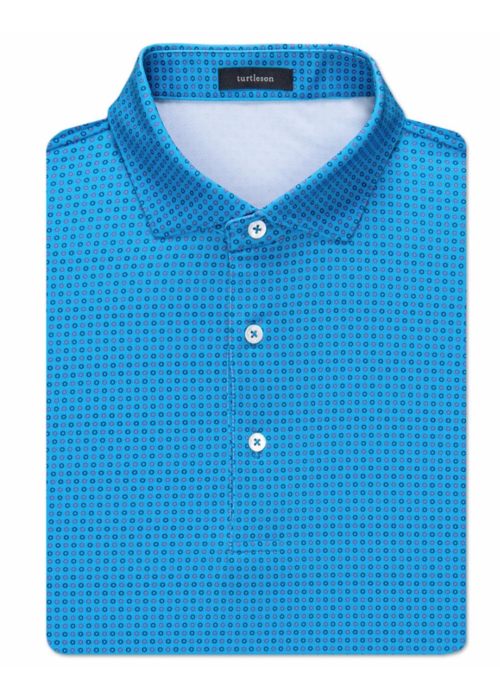 Turtleson Gibson Circle Jacquart Performance Polo