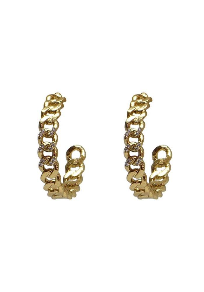 Tat2 Gold Mini Catena Hoops