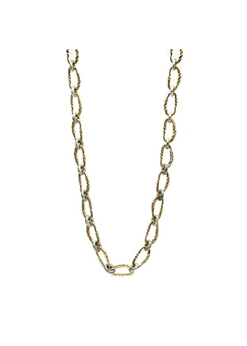 Tat2 Tat2 Gold Twisted Link Necklace