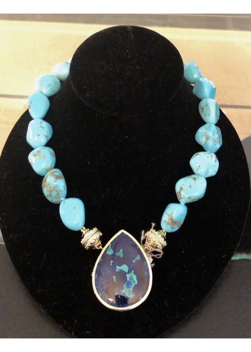 Clara Williams Clara Williams Tumbled Arizona Turquoise Necklace