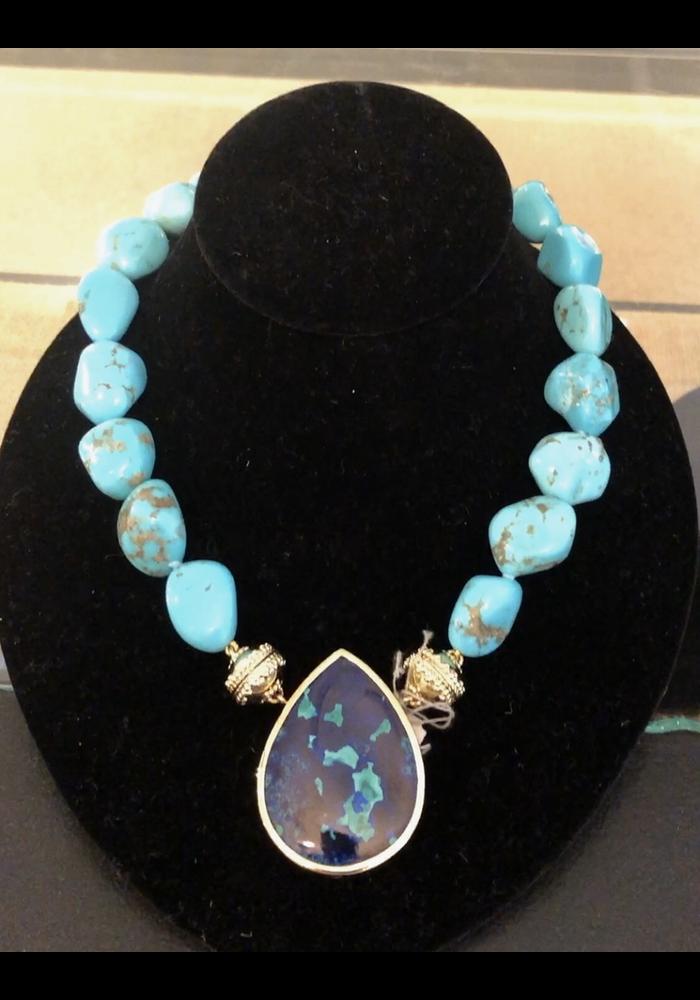 Clara Williams Tumbled Arizona Turquoise Necklace
